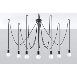Pakabinamas šviestuvas EDISON 7 juodas - 2 - 131,51€