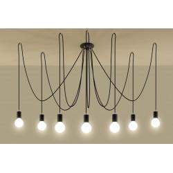 Pakabinamas šviestuvas EDISON 7 juodas - 3 - 131,51€