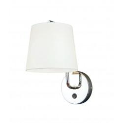 Sieninis šviestuvas CHICAGO CHROM su baltu gaubtu - 1 - 58,60€