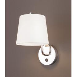 Sieninis šviestuvas CHICAGO CHROM su baltu gaubtu - 2 - 58,60€