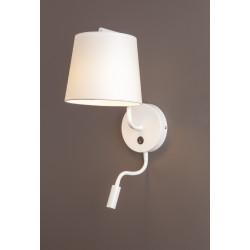 Sieninis šviestuvas CHICAGO LED baltas su baltu gaubtu - 2 - 88,60€
