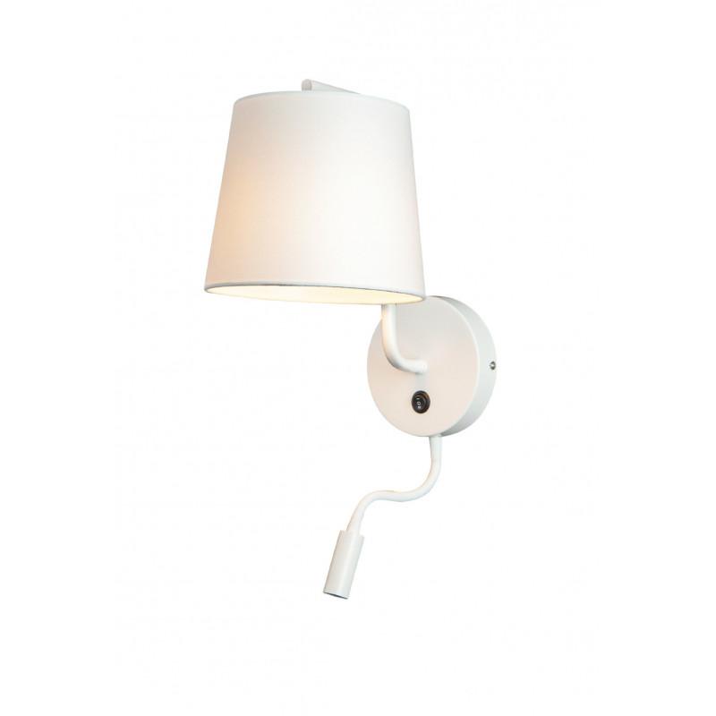 Sieninis šviestuvas CHICAGO LED baltas su baltu gaubtu - 1 - 88,60€