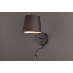 Sieninis šviestuvas CHICAGO LED juodas su juodu gaubtu - 2 - 88,60€