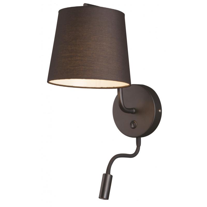 Sieninis šviestuvas CHICAGO LED juodas su juodu gaubtu - 1 - 88,60€