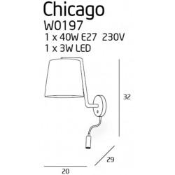 Sieninis šviestuvas CHICAGO LED juodas su juodu gaubtu - 4 - 88,60€