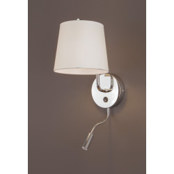 Sieninis šviestuvas CHICAGO LED CHROM su baltu gaubtu - 2 - 88,60€