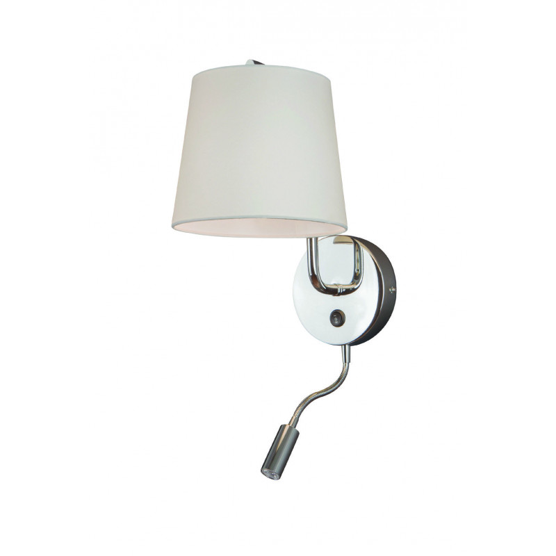 Sieninis šviestuvas CHICAGO LED CHROM su baltu gaubtu - 1 - 88,60€