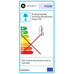 Sieninis šviestuvas COMET juodas, 3W LED, IP54 - 5 - 132,33€