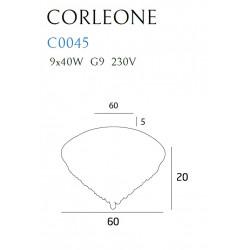 Plafonas CORLEONE 60 cm - 2 - 527,43€