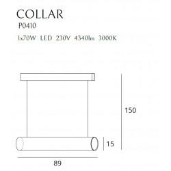 Pakabinamas šviestuvas COLLAR BLACK - 2 - 553,47€