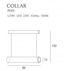 Pakabinamas šviestuvas COLLAR GOLD - 4 - 553,47€