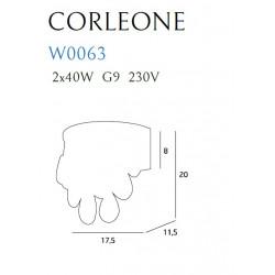 Sieninis šviestuvas CORLEONE - 4 - 91,86€