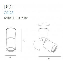 Lubinis šviestuvas DOT baltas - 5 - 43,95€