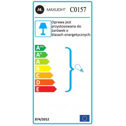 Lubinis šviestuvas DOT juodas - 5 - 43,95€