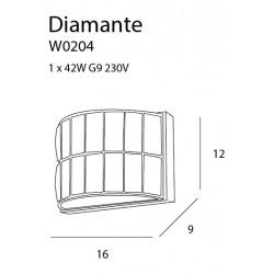Sieninis šviestuvas DIAMANTE - 3 - 58,60€