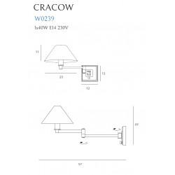 Sieninis šviestuvas CRACOW - 4 - 92,78€