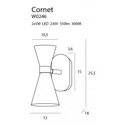 Sieninis šviestuvas CORNET LED - 2 - 116,04€
