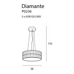Pakabinamas šviestuvas DIAMANTE mažas 38 cm - 4 - 261,15€