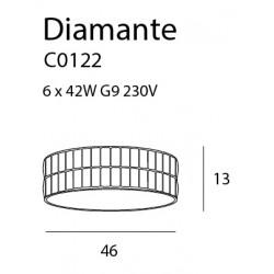 Plafonas DIAMANTE didelis 46 cm - 3 - 285,34€