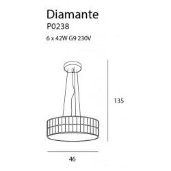Pakabinamas šviestuvas DIAMANTE didelis 46 cm - 4 - 321,16€