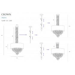 Pakabinamas šviestuvas CROWN 80 cm - 4 - 457,66€