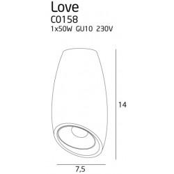 Lubinis šviestuvas LOVE baltas - 5 - 30,70€
