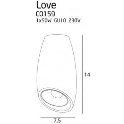 Lubinis šviestuvas LOVE juodas - 2 - 30,70€
