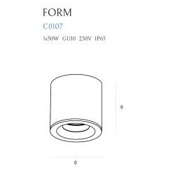 Lubinis šviestuvas FORM GU10 IP65 - 4 - 46,28€