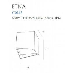 Lubinis šviestuvas ETNA baltas IP44 - 6 - 56,98€