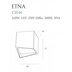Lubinis šviestuvas ETNA juodas IP44 - 5 - 56,98€