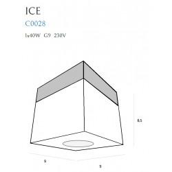 Lubinis šviestuvas ICE MINI PL - 3 - 74,42€