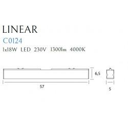 Lubinis šviestuvas LINEAR WHITE 18W 4000K - 6 - 75,12€