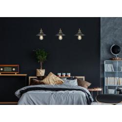 Pakabinamas šviestuvas HAGA žalvario su juoda - 2 - 78,60€