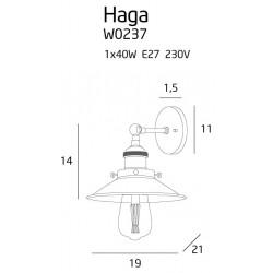 Sieninis šviestuvas HAGA CHROM - 2 - 78,60€