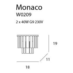 Sieninis šviestuvas MONACO - 2 - 80,92€