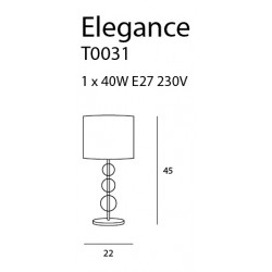 Stalinė lempa ELEGANCE - 4 - 83,95€