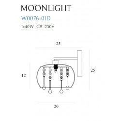 Sieninis šviestuvas MOONLIGHT - 2 - 86,97€