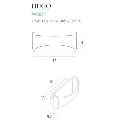 Sieninis šviestuvas HUGO juodas - 5 - 90,69€