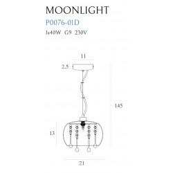Pakabinamas šviestuvas MOONLIGHT MINI - 2 - 89,77€