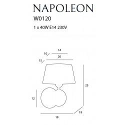 Sieninis šviestuvas NAPOLEON - 3 - 99,53€