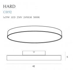Lubinis šviestuvas HARD - 3 - 113,95€