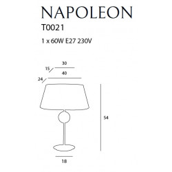 Stalinė lempa NAPOLEON - 3 - 113,95€