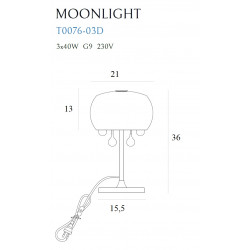Stalinė lempa MOONLIGHT - 2 - 119,77€