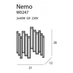 Sieninis šviestuvas NEMO - 4 - 120,93€