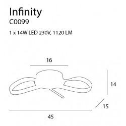 Plafonas INFINITY - 3 - 132,08€