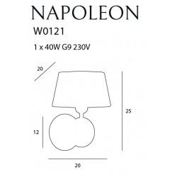 Sieninis šviestuvas NAPOLEON IP44 - 3 - 148,37€