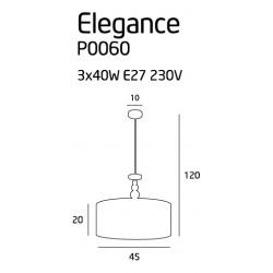 Pakabinamas šviestuvas ELEGANCE 45 cm - 4 - 157,43€