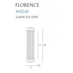 Sieninis šviestuvas FLORENCE žalvario - 5 - 158,59€