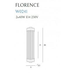 Sieninis šviestuvas FLORENCE CHROM - 3 - 158,59€