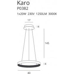 Pakabinamas šviestuvas KARO 40 cm - 3 - 160,46€